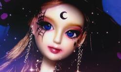 如何给丽佳娃娃改妆成一个黑暗女巫造型