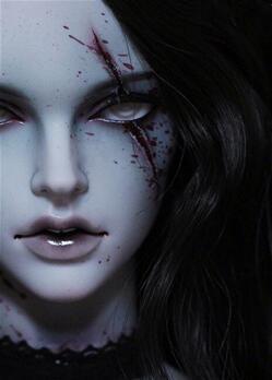 (胆小勿入)bjd娃娃重口味体面妆