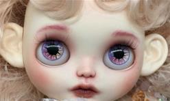 [Blythe娃娃改妆]真人风淡妆小布娃娃脸壳上妆教程