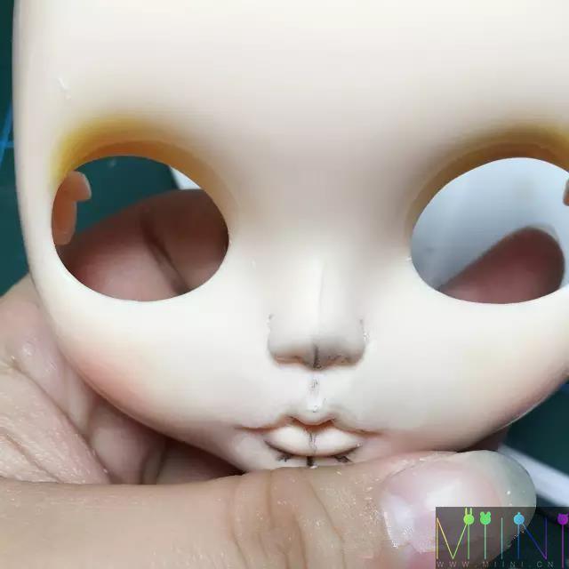 blythe小布娃娃磨改鼻子