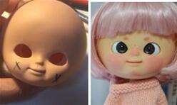 IXTEE iXDOLL妹头娃娃修复脸蛋改妆改造。