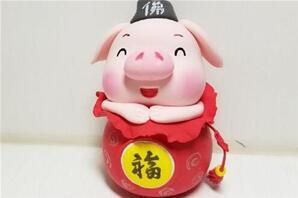 (迷你玩偶摆设)福袋粘土小猪玩偶手办做法,祝大家猪年发大财~hengheng