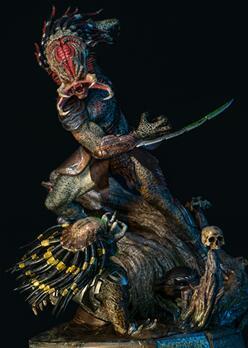(异形)铁血战士系列-1/4狮面雕像美图欣赏