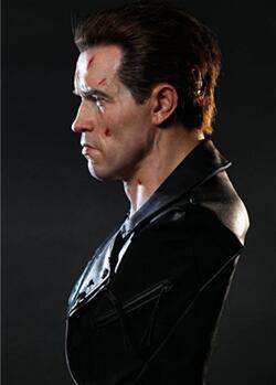 兵人娃娃,《Terminator/终结者2 3D版》- T-800 胸像鉴赏