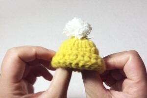 [钩织帽子]为你的bjd娃娃做一顶毛线帽子,超简单噢