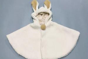 (6分娃衣)迷你羊羔绒斗篷制作教程,bjd娃娃穿了,又拉轰又保暖~