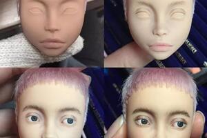 玩娃娃没有国界,乌克兰妹纸的画娃演绎娃生之路。