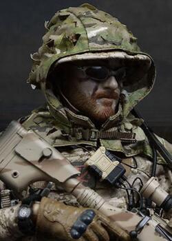 美国海豹,吉利服狙击双人组,射击手,12寸兵人娃娃。