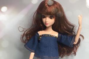 DIY手工制作芭比娃娃衣,可爱文艺小衫教程,森女系