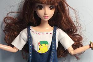 DIY手工芭比娃娃,娃衣教程,甜美的牛仔背带裙,快快来一款!