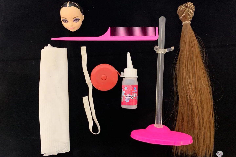 娃娃假发所需要的材料