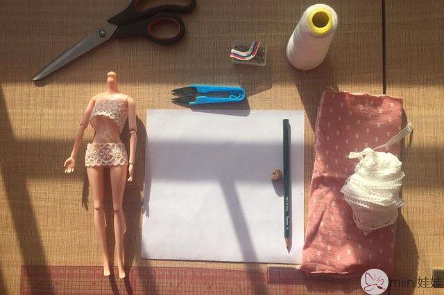 芭比娃娃睡袍材料