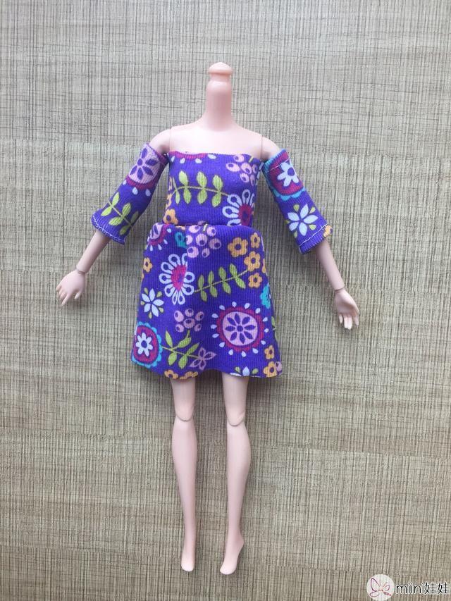 芭比娃娃露肩裙子