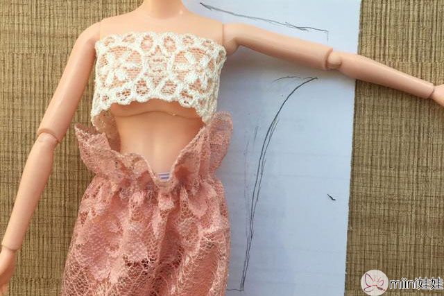 芭比娃娃长款卫衣打版