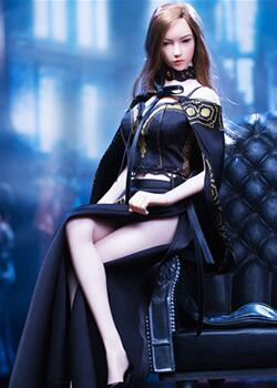 ACPLAY,兵人娃娃女王风复古长裙披风套装
