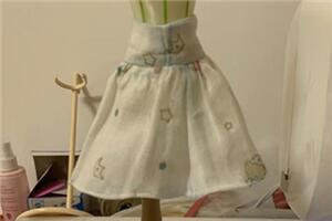 可儿娃娃迷你百褶高腰小裙子,[6分娃衣制作教程]简单易学习