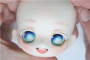 如何给一个无嘴的bjd娃头化妆,学会这个可爱妆,啥都不怕