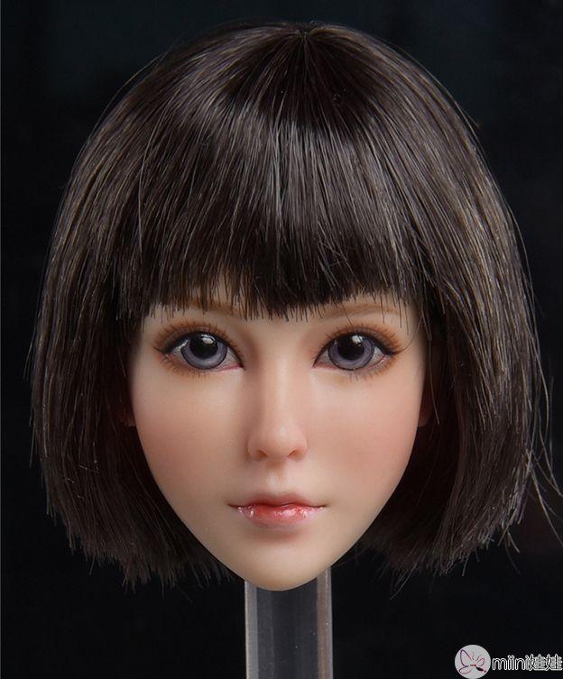 兵人娃娃头雕,甜美少女系面妆