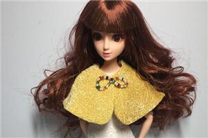 「DIY芭比娃娃衣」精致可爱的披肩教程,三步完成,超简单
