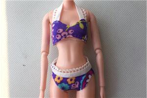 「DIY手工制作娃娃衣」芭比娃娃,比基尼教程,可爱性感!姐妹装
