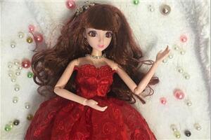 「DIY手工娃娃衣」芭比娃娃的聚会party礼服公主裙教程,刺绣款
