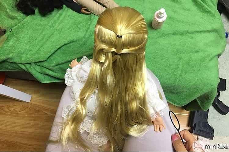 沙龙娃娃编发