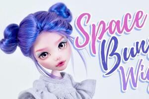 怪物高中娃娃假发套制作教程,乳胶做发套,毛线做头发