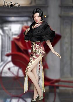 SUPER DUCK 新品:1/6 上海歌女 -含可动眼女头雕,兵人娃娃