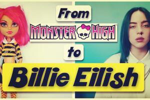[娃改]叨叨姐→怪物高中娃娃改Billie Eilish碧梨Bad Guy MV造型