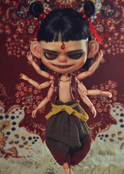 小布blythe娃娃,改妆,哪吒之魔童降世