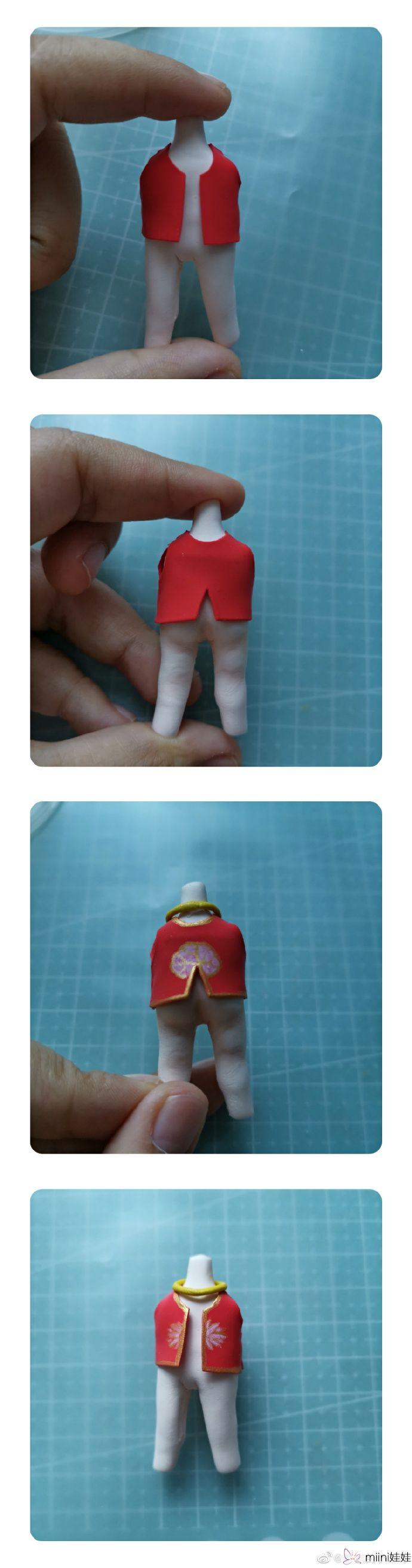 正在撒尿的小哪吒粘土玩偶