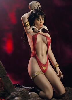 6分可动兵人娃娃,吸血红颜 - Vampirella/梵蓓娜,50周年纪念版