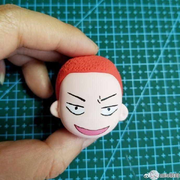 红头发的樱木花道粘土人偶做法