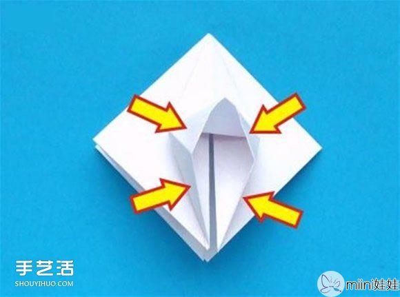 蟹爪兰的折纸方法图解 折纸圣诞仙人掌教程