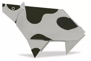 12生肖动物折纸教程啦,丑牛