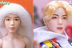 [娃改]美泰BTS娃娃,改Jin金硕珍,视频过程