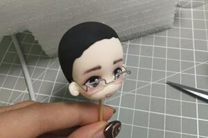 粘土人偶的眼镜做法教学