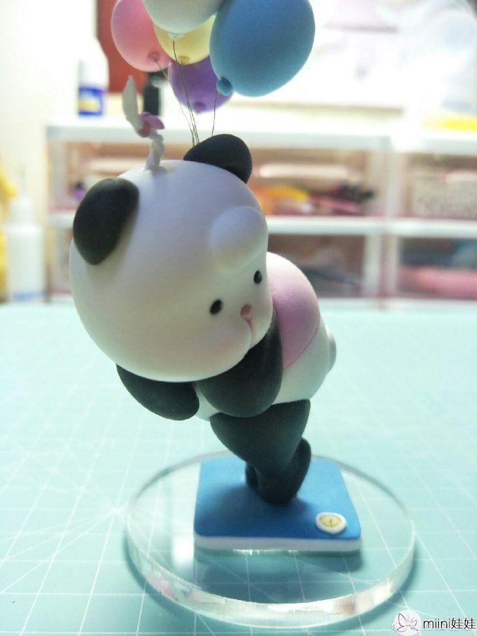 忘忧村的熊非熊粘土熊猫做法