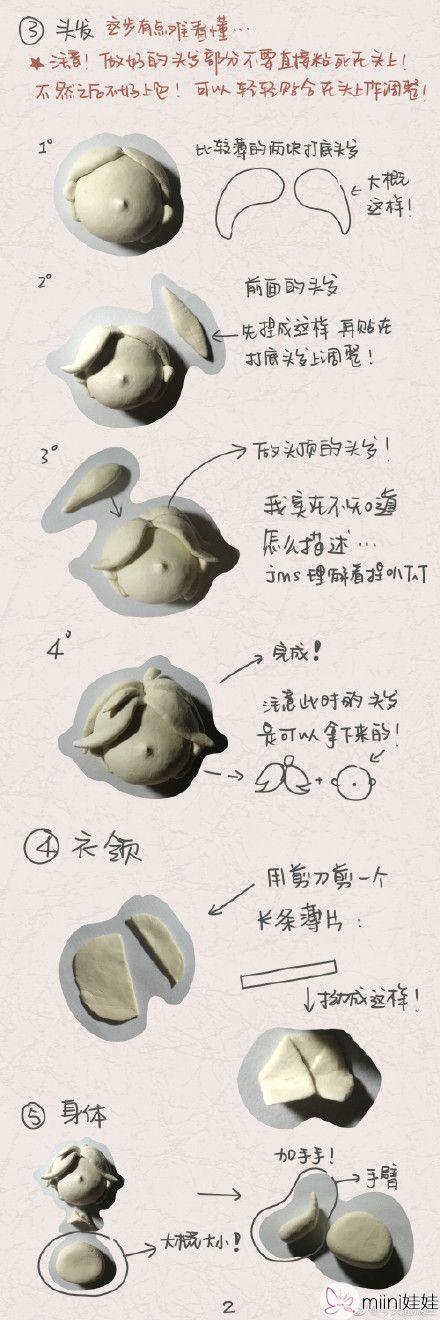 云次方粘土人偶手办做法详细教程