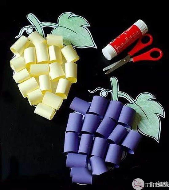 剪纸制作一串葡萄的方法
