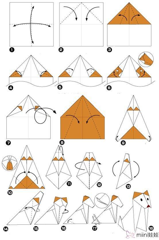 儿童折纸 动物折纸狗