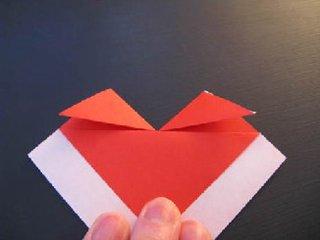 心心相印的心形折纸制作11