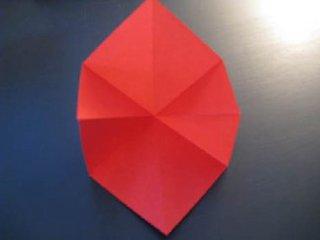 心心相印的心形折纸制作6
