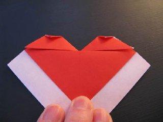 心心相印的心形折纸制作12