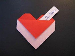 心心相印的心形折纸制作14