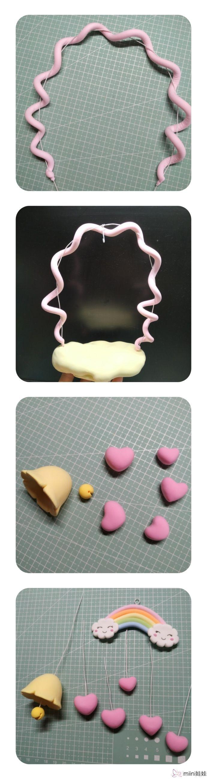创意独角兽粘土挂饰手办做法