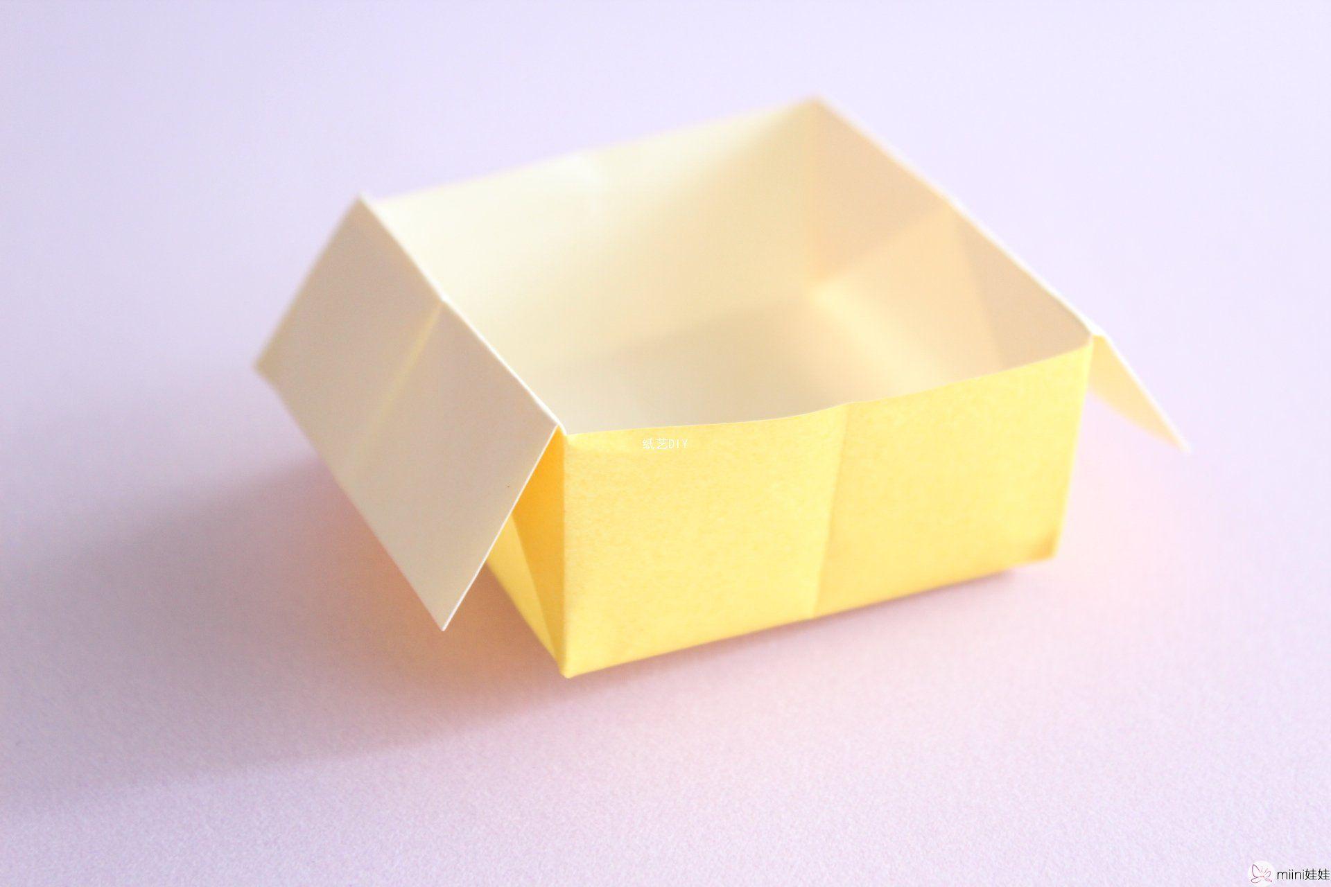 实用简单小型垃圾盒子折纸教程