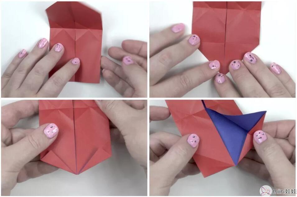 立体心脏折纸教程步骤 鼓起的心怎么折?