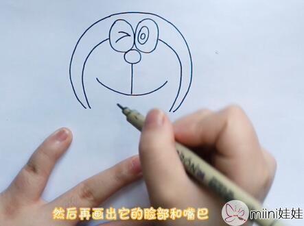 机器猫简笔画怎么画?机器猫简笔画步骤教程