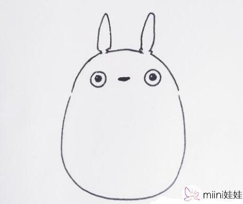 龙猫简笔画怎么画?龙猫简笔画手绘教程